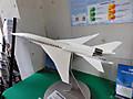 静粛超音速機の模型。JAXA調布飛行場分室にて撮影。